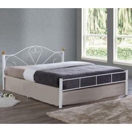Z.E8067,1 LAZAR κρεβάτι διπλό Μεταλλικό Βαφή Άσπρη