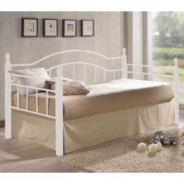 Z.E8072,1 VINCENT κρεβάτι μονό 98x201x99. Μέταλλο Άσπρο/Ξύλο 'Ασπρο
