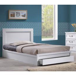 Z.EM3633,1 LIFE κρεβάτι μονό με συρτάρι Λευκό