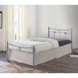 Z.E8068,1 DUGAN κρεβάτι μονό Μεταλλικό Βαφή Silver