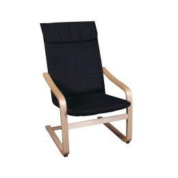 Z.E7150,2 HAMILTON πολυθρόνα Σημύδα/Ύφασμα Μαύρο