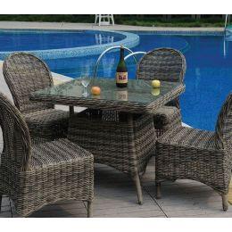 Z.E6551 MONTANA τραπέζι Φ5mm Round Wicker Grey/Brown