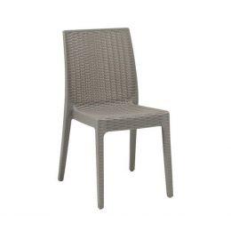 Z.E328,4 DAFNE καρέκλα Στοιβαζόμενη Πλαστική Μπεζ Tortora