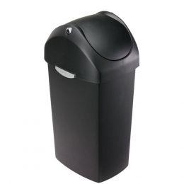 30533 Κάδος 60L πλαστικός, μαύρος, με ελεύθερο αιωρούμενο καπάκι. Simple Human