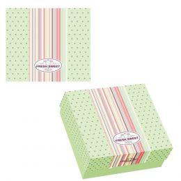 30914 Κουτί ζαχαροπλαστικής μεταλιζέ FRESH No 10, 22x22x8cm (τιμή για 10kg)