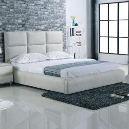 Z.E8080 MAXIM κρεβάτι διπλό Ύφασμα Grey-Stone