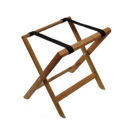 31396 Αναδιπλούμενη ξύλινη μπαγκαζιέρα ανοιχτό καφέ 50x38x49cm