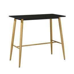 Z.EM154,2 Lavida τραπέζι bar μαύρο steel φυσικό mdf 120x60x106cm