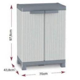 Πλαστική Ντουλάπα βαρέως τύπου με ραφια. Εισαγωγης Ιταλιας. WaveBase 700U