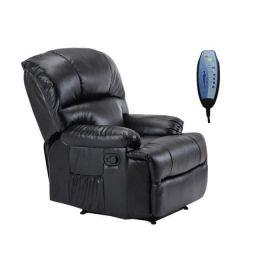 Z.E9731,2 SPACE Πολυθρόνα Massage PU Μαύρο 88x93x102