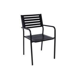 Z.E5140 VERA πολυθρόνα μεταλλική σε μαύρο χρώμα 54x51x84cm