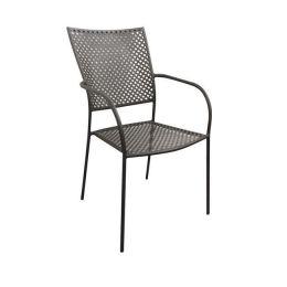 Z.E5145 FERIA πολυθρόνα μεταλλική σε mesh μαύρο χρώμα 53x55x90cm