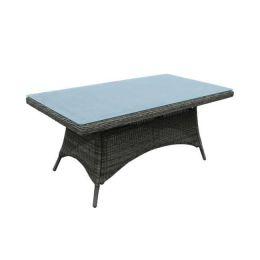 Z.E6554 MONTANA τραπέζι Φ5mm round wicker σε γκρί/καφέ χρώμα 180x90x75cm