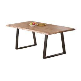 Τραπέζι με μεταλλικό σκελετό σε ξύλο ακακία φυσικό χρώμα Z.EA7097 LIZARD