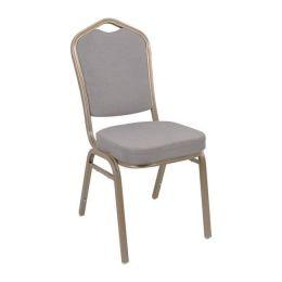 Z.EM513,51 HILTON καρέκλα μεταλλική light gold με γκρι ύφασμα 45x62x94cm