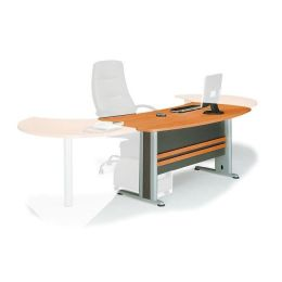 Z.EO999,1Γ EXECUTIVE Γραφείο dark σε grey/cherry 180x80cm