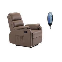 Πολυθρόνα relax με control δερμάτινη Z.E9733,4 COMFORT
