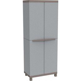 Πλαστική Δίφυλλη Ντουλάπα με χώρισμα 68x39x170cm JRATTAN 368