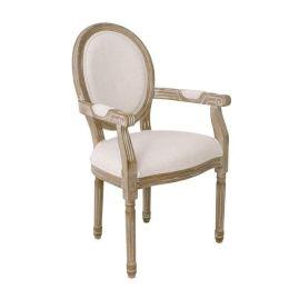 Z.E753,1 JAMESON Καρέκλα Decape/Ύφασμα Εκρού 49x58x95cm