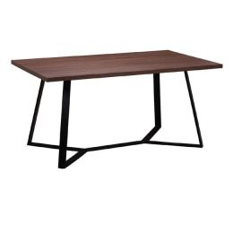 Z.EM821,2 HANSON τραπέζι Βαφή Μαύρη/Σκούρο Καρυδί 160x90x75cm