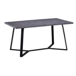 Z.EM821,3 HANSON τραπέζι Βαφή Μαύρη/Ξύλο Cement 160x90x75cm