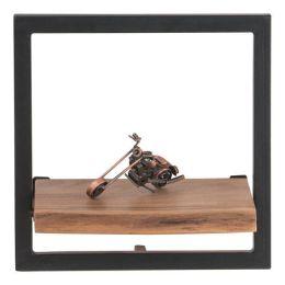 Z.EA7070,5 LIZARD Frame Ράφι Μεταλλικό Μαύρο /Ξύλο Ακακία Φυσικό 35x25x35cm