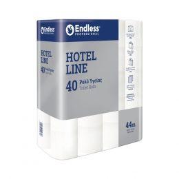 Ρολό υγείας 2φυλλο, HOTEL LINE, νέας τεχνολογίας, 44 μέτρων, 125gr 24008 - Τιμή για 40 ρολά