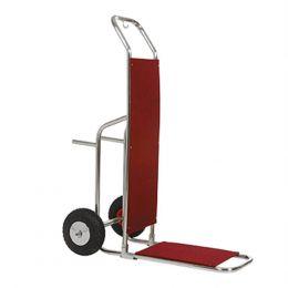 Καρότσι μεταφοράς αποσκευών ΙΝΟΧ, με τροχούς φ20cm, 91x53x130cm, Evinoks KBA-214-S