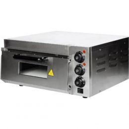 Ηλεκτρικός Φούρνος Πίτσας, Μονός, θάλαμος 40x40cm, 2KW, έως 350°C., KARAMCO HEP-1ST