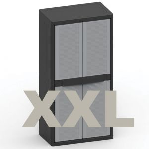 Πλαστική Ντουλάπα Εισαγωγής Ιταλίας 90x54x180h. Jumbo Qblack2900